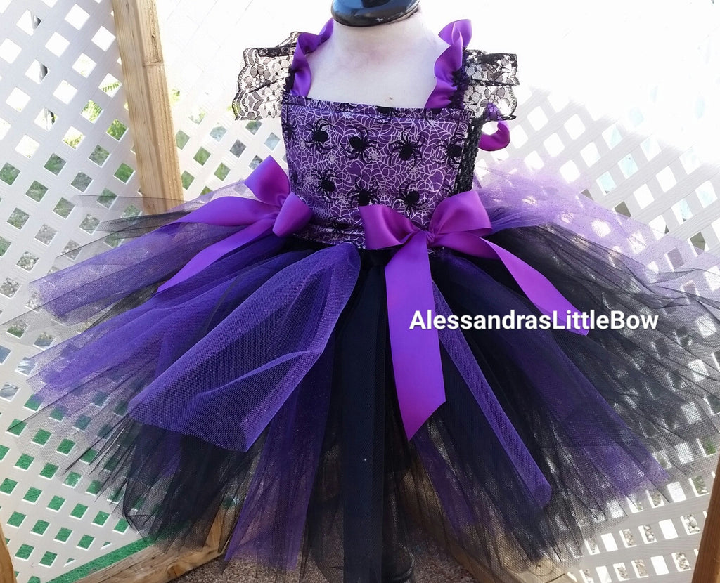Itsy bitsy Spider tutu dress costume - AlessandrasLittleBow