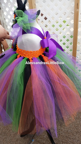 Pretty witch tutu dress and hat