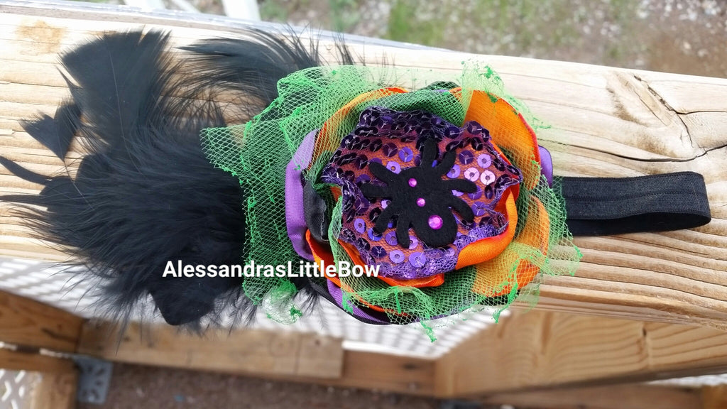 Pretty witch headband - AlessandrasLittleBow