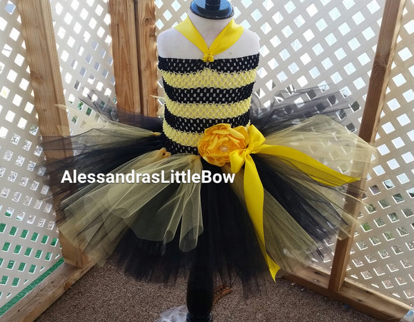 Bumble bee tutu dress - AlessandrasLittleBow