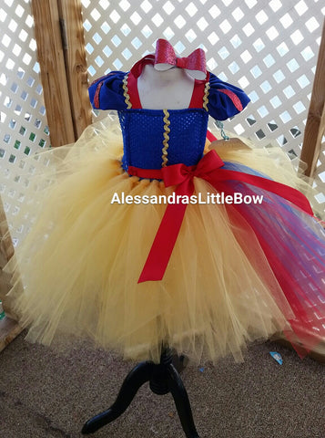 Snow white tutu dress - AlessandrasLittleBow
