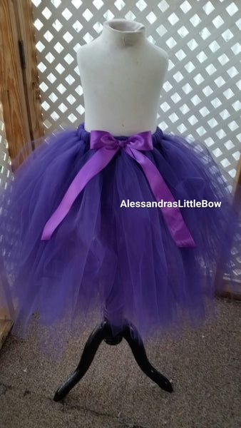 Full lenght flower girl tutu skirt pick color - AlessandrasLittleBow