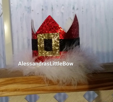Santa Claus Crown - AlessandrasLittleBow