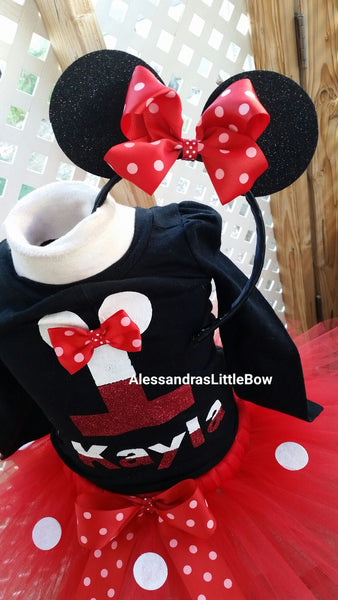 Christmas minnie mouse birthday outfit