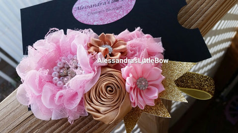 Light pink and Gold headband