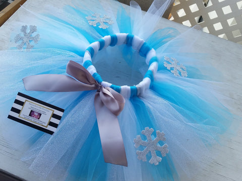 Queen Elsa Disney's frozen inspired tutu skirt - AlessandrasLittleBow - Tutus - Alessandras Little Bow -  -  -  - 1