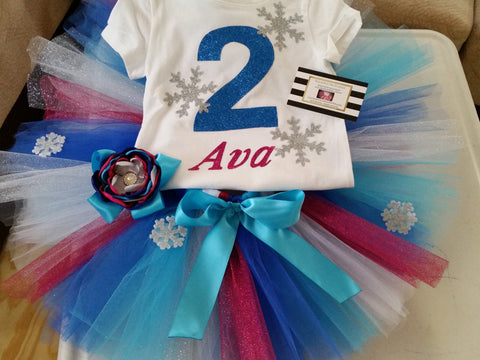 Anna and Elsa Frozen birthday outfit - AlessandrasLittleBow - birthday outfit - Alessandras Little Bow -  -  -