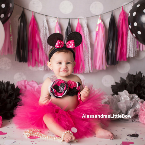 Let's Party Minnie cake smash outfit
