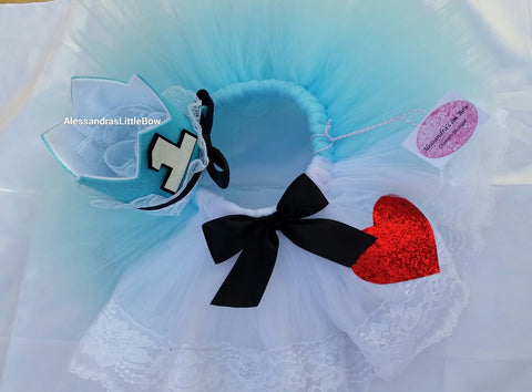 Alice in Wonderland tutu skirt