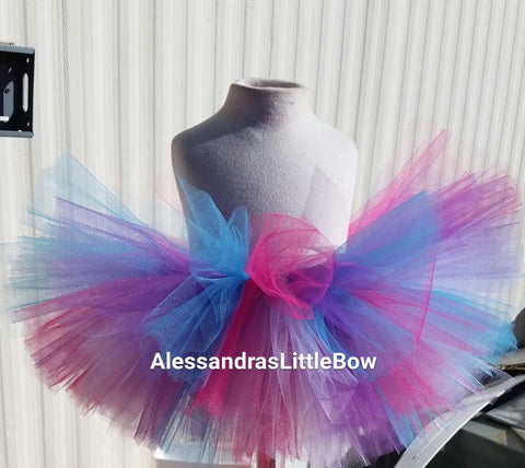 3 colored tutu skirt - AlessandrasLittleBow