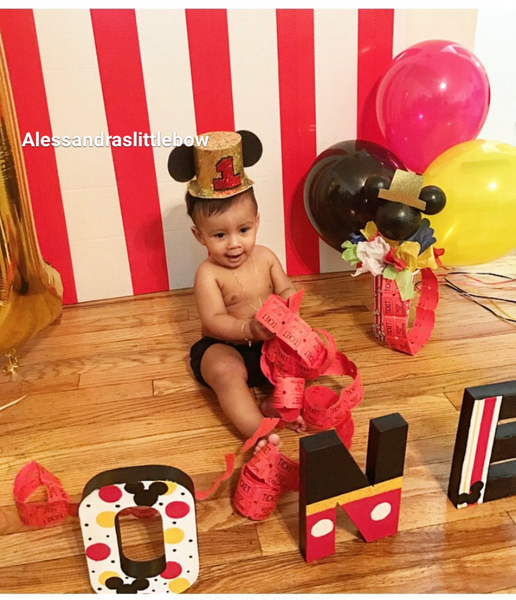 Mickey mouse gold top hat - AlessandrasLittleBow