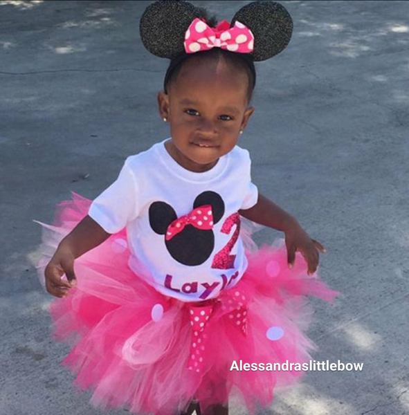 """Raquel"" minnie mouse birthday outfit 3 piece set - AlessandrasLittleBow"