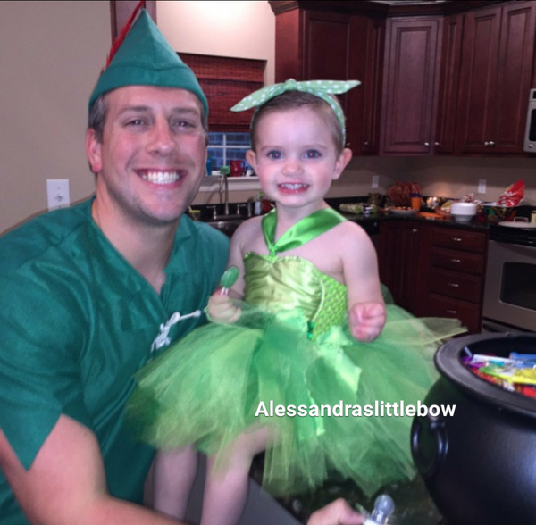 Tinker Bell Fairy tutu dress - AlessandrasLittleBow