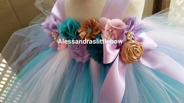 Sweet Mermaid tutu dress - AlessandrasLittleBow