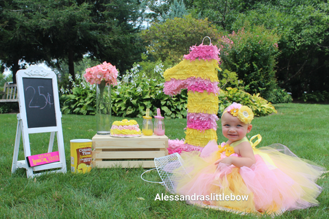 Pink lemonade tutu dress - AlessandrasLittleBow