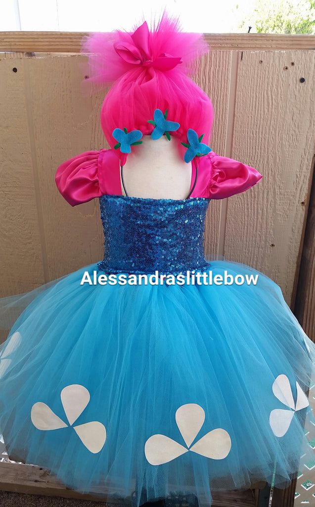 Troll princess tutu dress - AlessandrasLittleBow