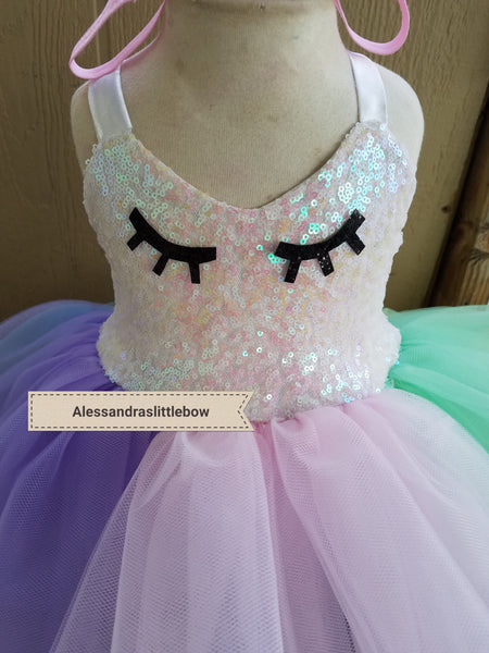 Unicorn Sparkle couture dress