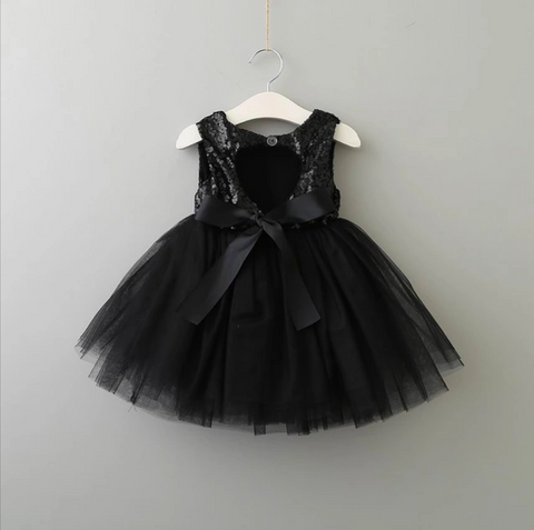 Brielle dress in black - AlessandrasLittleBow