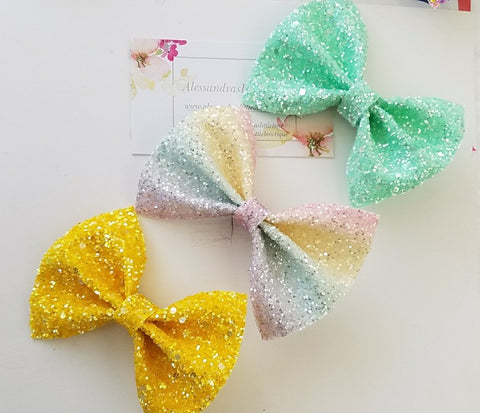 Sweet glitter bow set