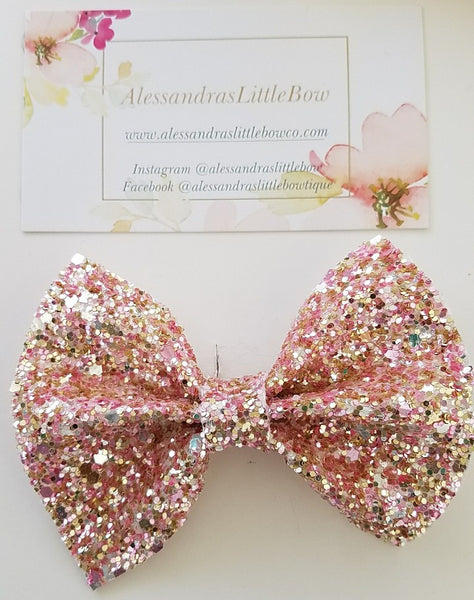 Rose gold statement bow - AlessandrasLittleBow