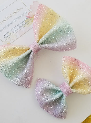 Sweet Rainbow statement bow