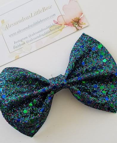 Mermaid Mix glitter statement bow