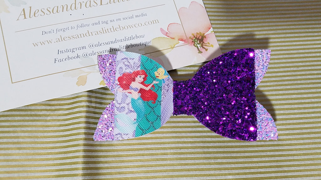 Little Mermaid Chunky bow - AlessandrasLittleBow