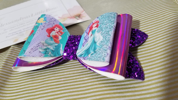 Princess Ariel double bow - AlessandrasLittleBow