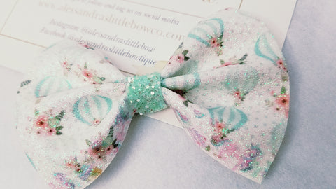 Hot air balloon Glitter statement bow
