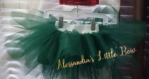 Hunter Green Luxury Tutu Skirt - AlessandrasLittleBow