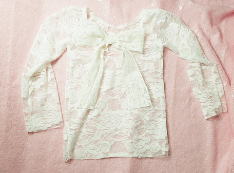 Ivory Lace top - AlessandrasLittleBow