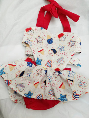 4th of July Ice Cream Romper - AlessandrasLittleBow