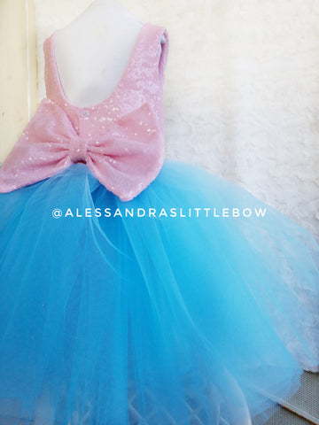 Cotton Candy Princess Dress - AlessandrasLittleBow