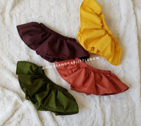 Fall Skirted Bloomers Bundle - AlessandrasLittleBow
