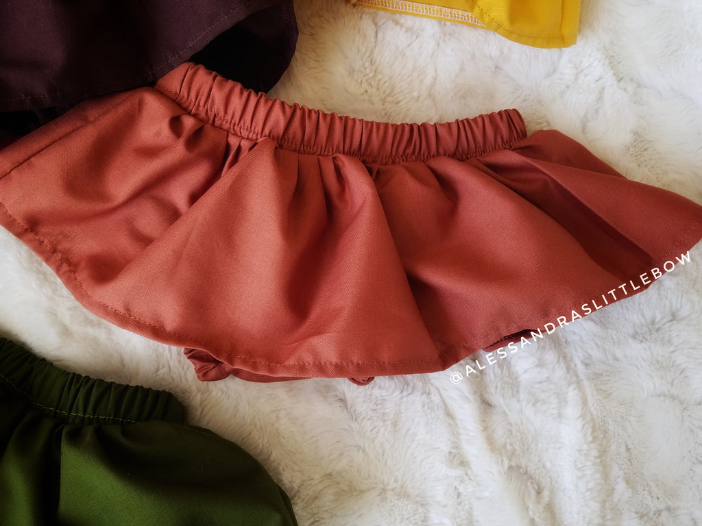 Rust skirted bloomers - AlessandrasLittleBow