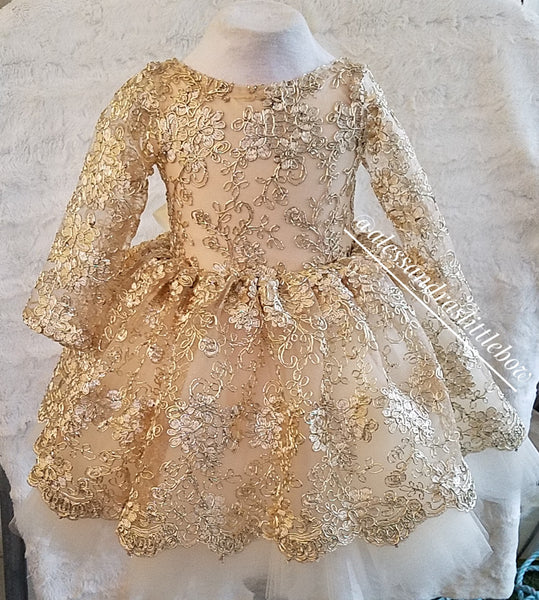 Princess Amber Couture Dress - AlessandrasLittleBow