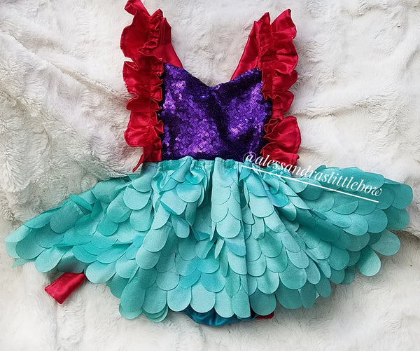 Little Mermaid Luxury Romper - AlessandrasLittleBow