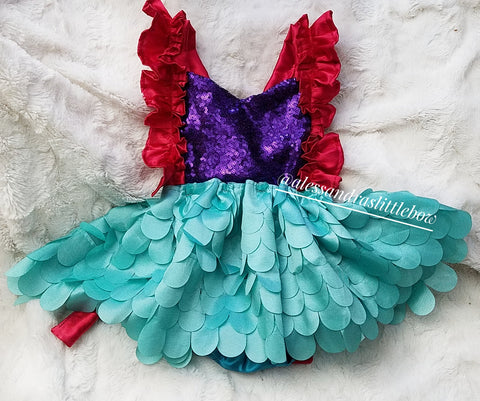 Little Mermaid Luxury Romper