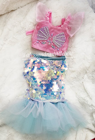 Barbie Mermaid Luxury Outfit - AlessandrasLittleBow