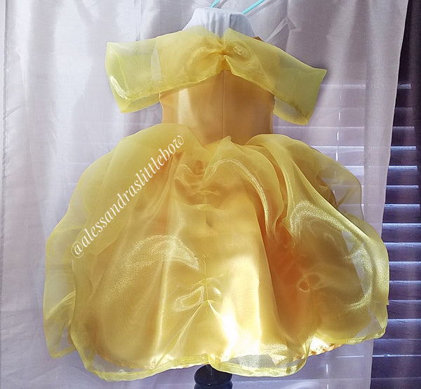 Belle inspired Couture Dress - AlessandrasLittleBow