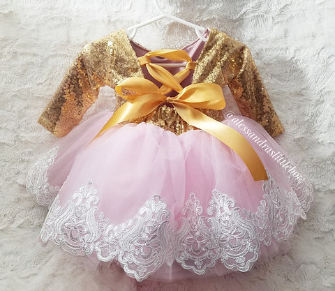 Princess Aubre Couture Dress - AlessandrasLittleBow
