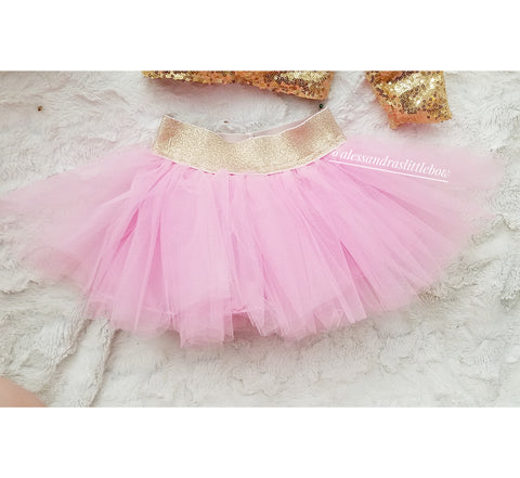 Light Pink Luxury Tutu Skirt - AlessandrasLittleBow