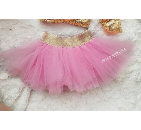Pink Luxury Tutu Skirt - AlessandrasLittleBow