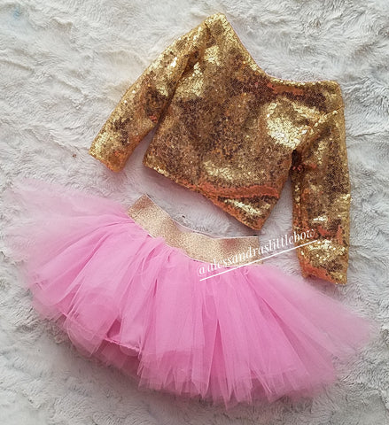 Luxury Tutu and Sequin Top Set - AlessandrasLittleBow