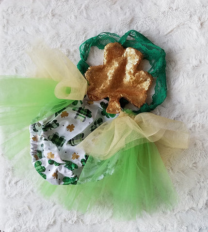 Queen of Clovers tutu Romper - AlessandrasLittleBow