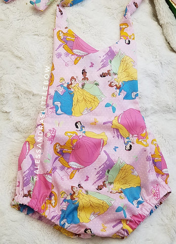 Princesses BUBBLE ROMPER - AlessandrasLittleBow