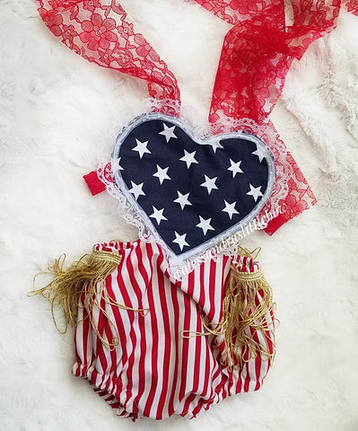 Liberty Heart Romper