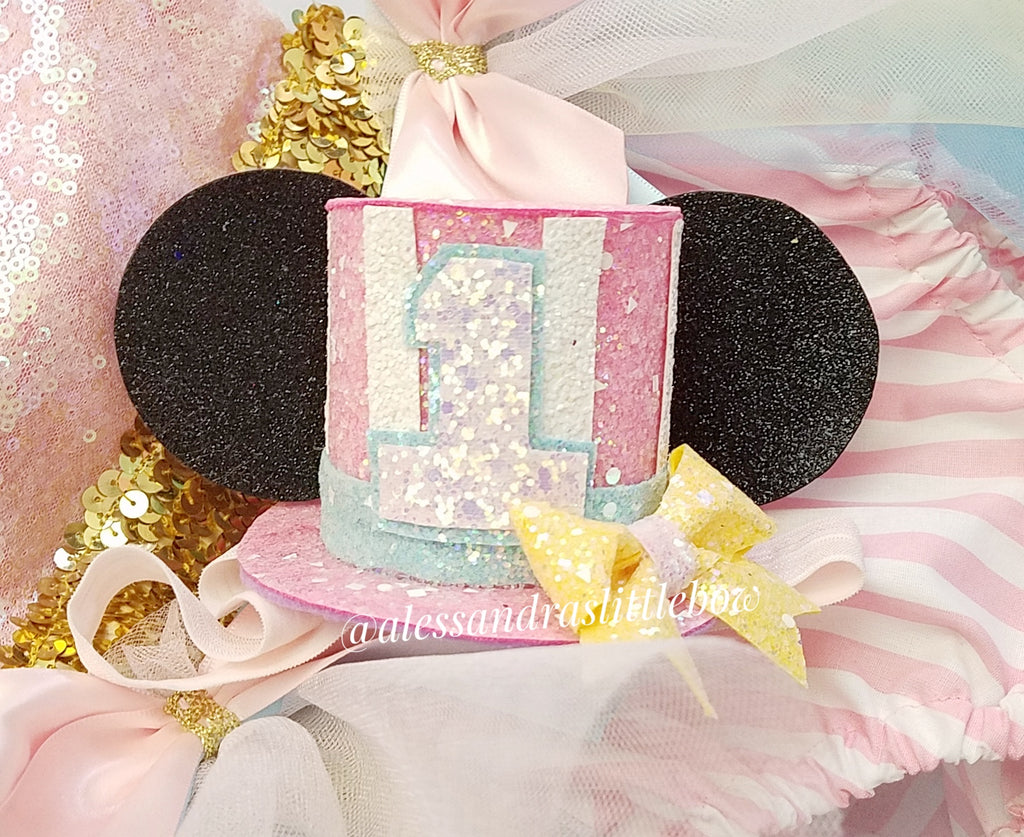 Minnie Mouse Pastel Circus Hat