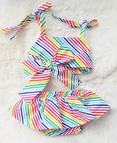 PRE ORDER Baby  Set in Rainbow Swirl
