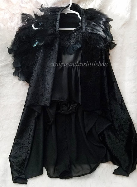Maleficent Feather Cape, Long